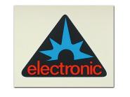 """Set Aufkleber / Schriftzug """"electronic"""" (Dreieck) 2x Seitendeckel"""