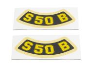 """Set Aufkleber Schriftzug """"S50 B"""" (geschwungen)"""