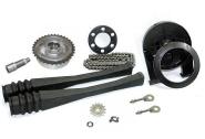 Kettenkit / Kettensatz mit Kleinteilen - Simson Habicht SR4-4