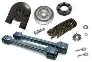 Kettenkit / Kettensatz mit Kleinteilen - Simson Roller SR50, SR80