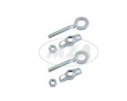 Set Kettenspanner / Kettenspannschraube vollständig (1 Paar) für 10er- Achse, verchromt