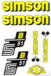 Set Klebefolie S51B, Aufkleber für SIMSON Tank und Seitendeckel, gelb
