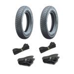 Heidenau Reifen SET 2 Stück - Reifen 3,00 x 12 K38 47J + Vee Rubber-Schläuche + Felgenbänder