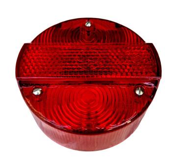 Rücklichtkappe ø 120 mm für Bremsschlußleuchte BSL,  - rot - 3 Schrauben - Lichtaustritt 8520.26-200