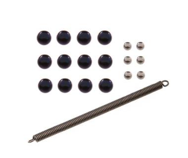 SET Kugelsatz - Ø4 und Ø7mm Stahlkugeln sowie Schnurfeder für Abtriebswelle mit 3-fach Verrastung!