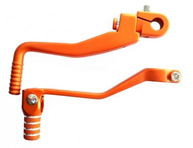 SET Kickstarterhebel + Fußschalthebel klappbar - orange
