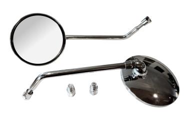Rückblickspiegel - Set 2 Stück -  ø 105 mm - Gewinde M8, verchromt