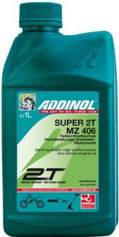 """ADDINOL MZ406 SUPER, 2-Takt-Motorenöl, raucharm, teilsynthetisch, 1 L Dose """"DAS SAUBERE"""""""