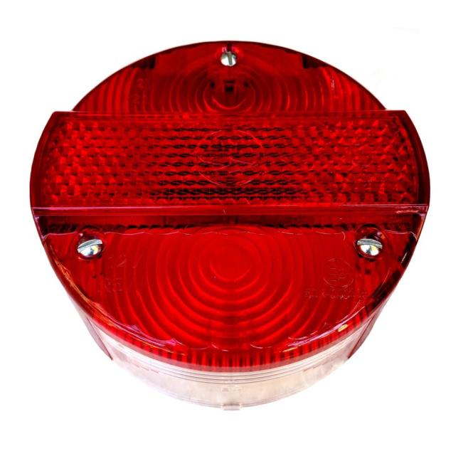 Rücklichtkappe ø 120 mm für Bremsschlußkennzeichenleuchte BSKL,  - rot - 3 Schrauben - Lichtaustritt 8522.21-200