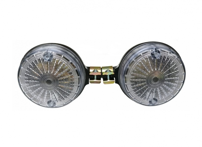 SET Blinker 8580.23/1, hintere - rund - weiß - mit E-Prüfzeichen