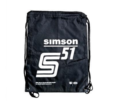 """Sportbeutel """"SIMSON S51"""" - schwarz, mit Kordelzugverschluss"""