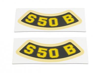 """SET: Aufkleber / Schriftzug """"S50 B"""" (geschwungen)"""