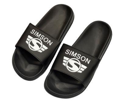 Badelatschen, schwarz - Motiv: SIMSON