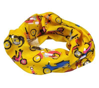 Halstuch, Multifunktionstuch, Schlauchtuch - gelb