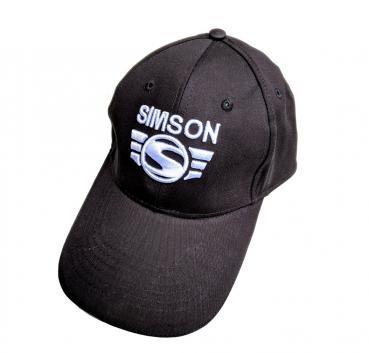 Basecap, schwarz - mit 3D-Logo in weiß