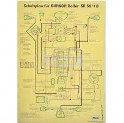 simso shop schaltplan 40x57cm sr50 1b simson. Black Bedroom Furniture Sets. Home Design Ideas