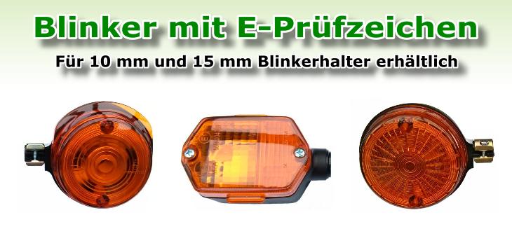 Blinker E-Prüfzeichen